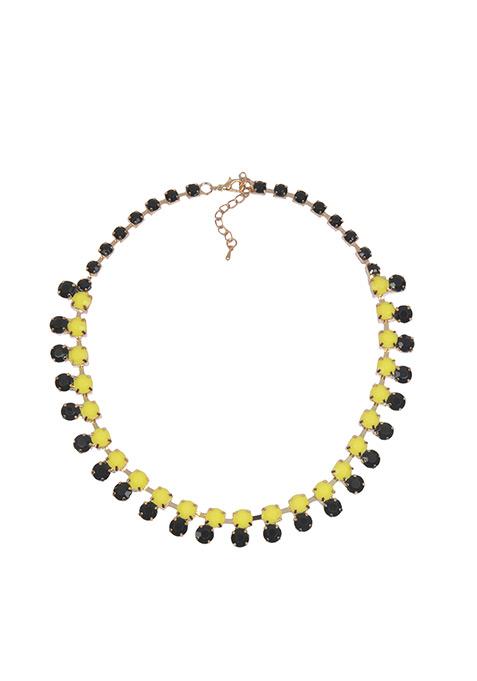Black Yellow Stones Choker