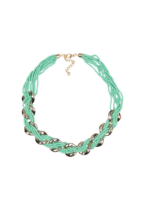Mint Chain Link Necklace