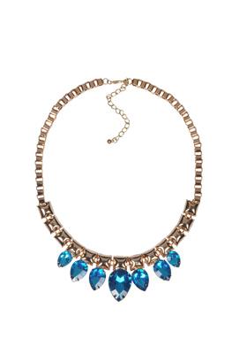 Sapphire Stones Gold Necklace