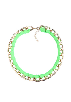 Green Gold Curb Chain Necklace