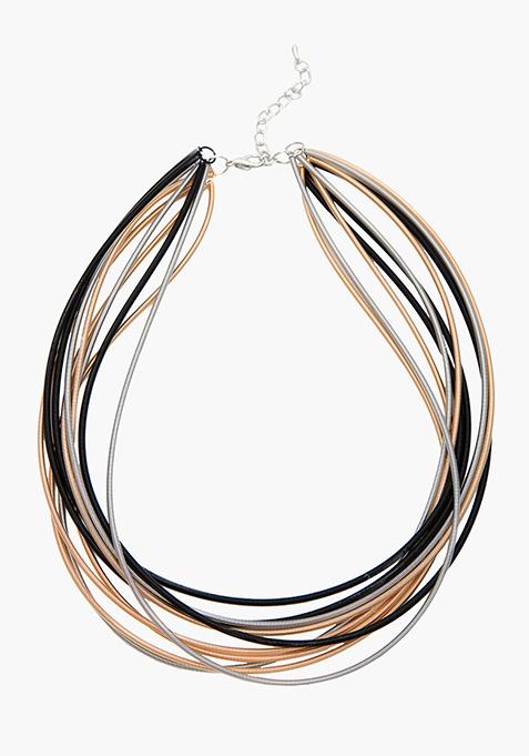 Tonal Chain Collar Necklace