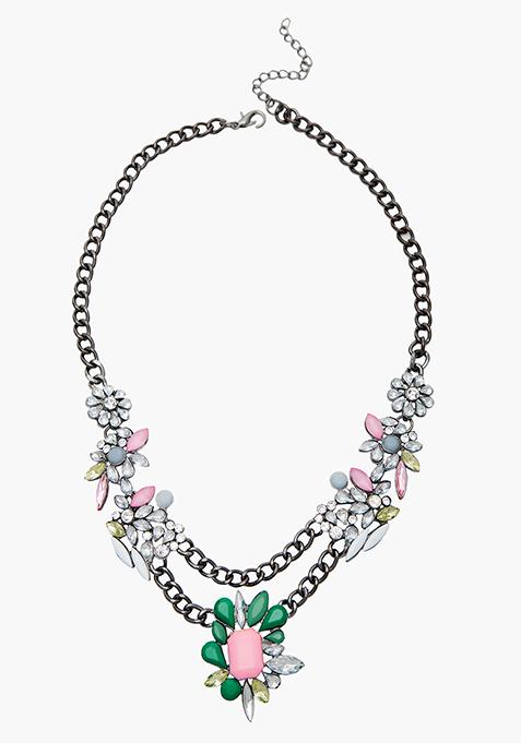 Flower Power Drop Necklace