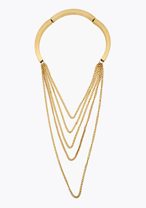 Multilayer Gold Chain Necklace