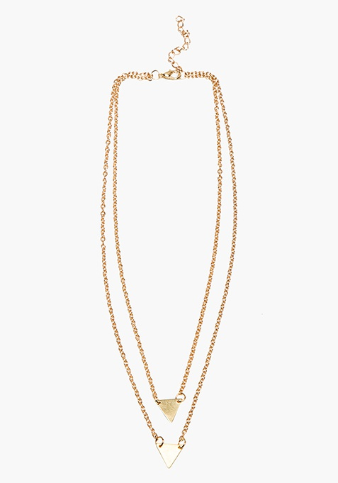 Layered Triangles Necklace
