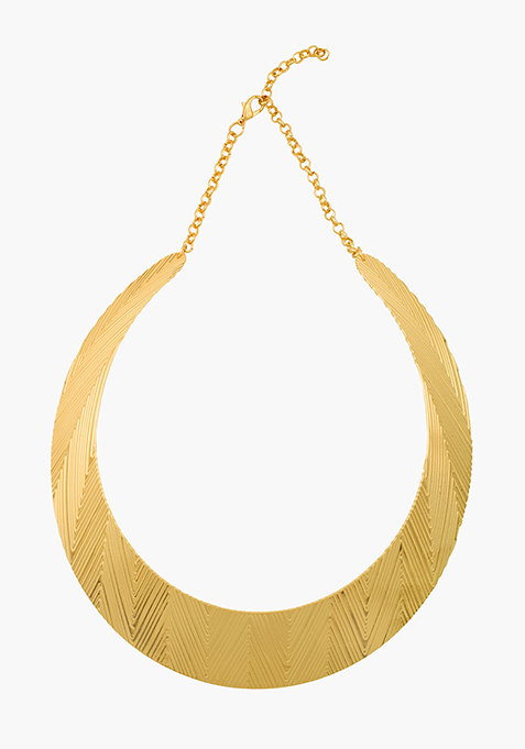 Faceted Gold Choker