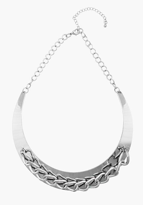 Silver Chain Choker