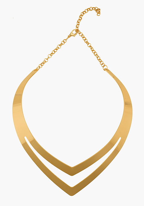 Gold Triangle Choker