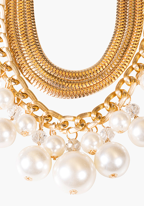 Multi-Layer Pearls Necklace