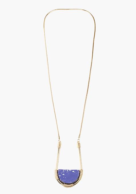 Boho Blue Longline Necklace