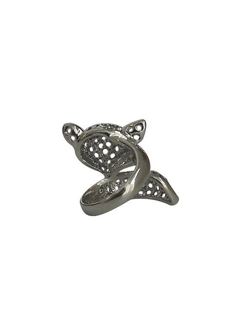 Fox Face Silver Ring