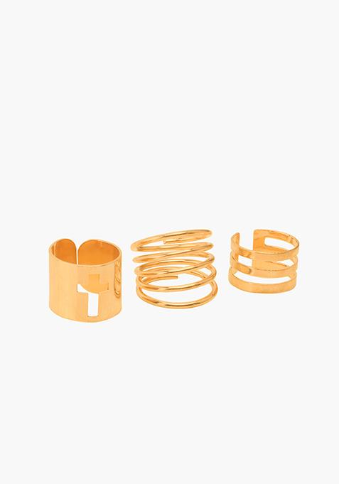 Gold Ring Set - 3