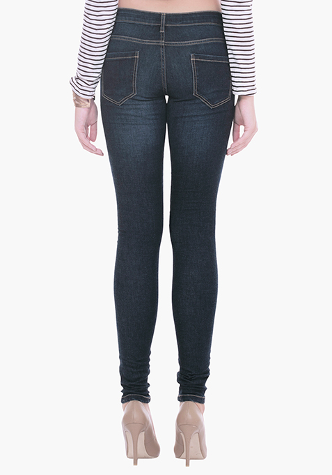 Busted Skinny Jeans - Dark Wash