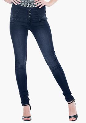 High-Rise Skinny Jeans - Dark Wash