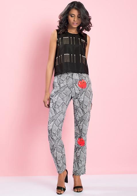 MasabaXFabAlley Ladybug Poplin Trousers