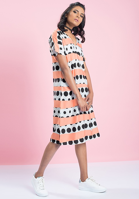 MasabaXFabAlley Polka Dot Shift Dress