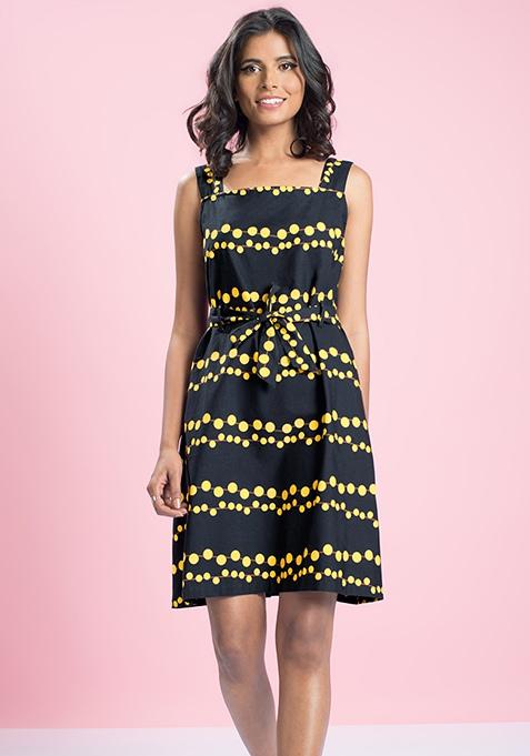 MasabaXFabAlley Waist Tie A-Line Dress - Fairylights