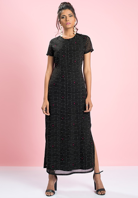 MasabaXFabAlley Maxi Shift Dress - Polka