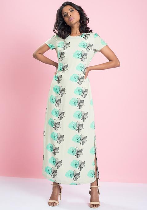 MasabaXFabAlley Maxi Shift Dress - Floral