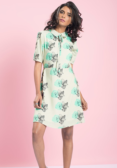 MasabaXFabAlley Preacher Tie Dress - Floral