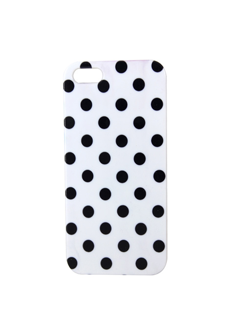 Dotted iPhone 5/5S Cover - Black