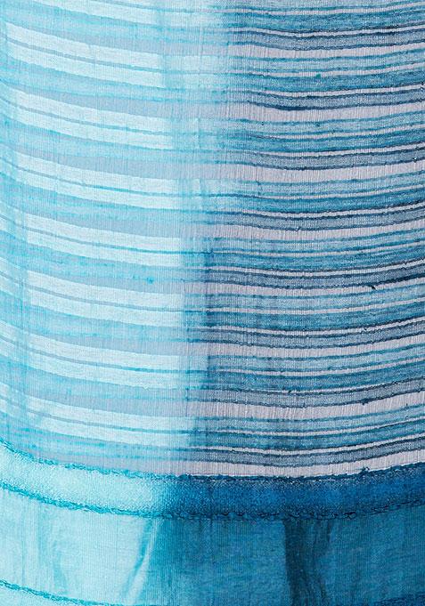 Blue Self Striped Scarf