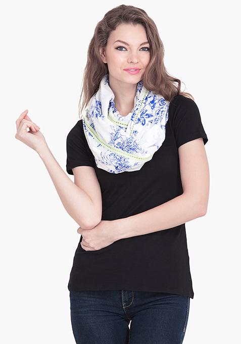 Blue Floral Snood