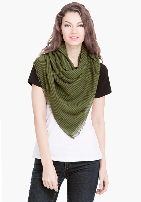 Green Checkered  Scarf