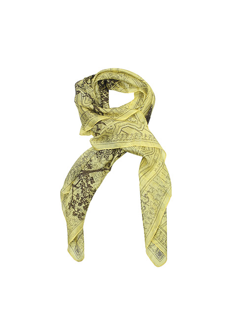 Light Yellow Printed Scarf