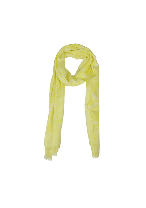 Lace Print Scarf - Lime
