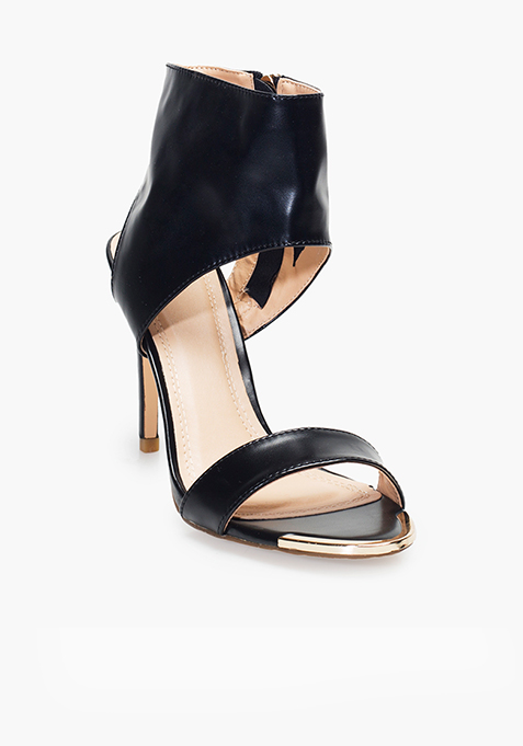 Ankle Wrap High Heels – Black