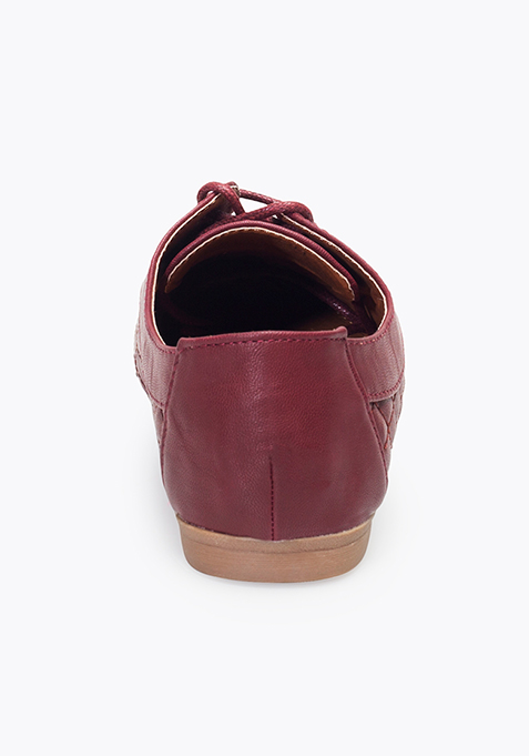 Oxblood Quilted Shoes