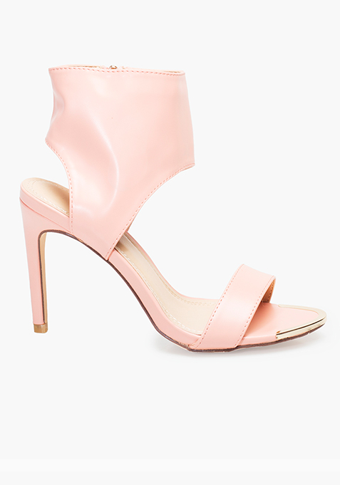 Ankle Wrap High Heels - Pink