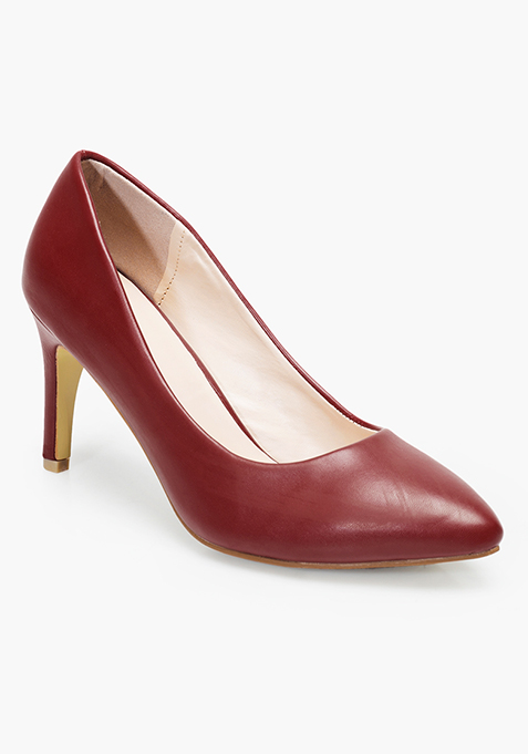 9 To 5 Pumps - Red