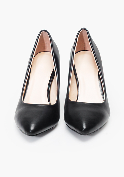 9 To 5 Pumps - Black