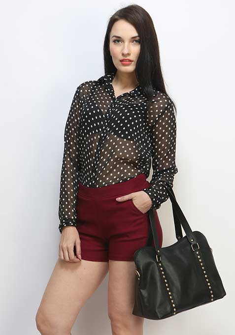 Chic City Shorts - Oxblood