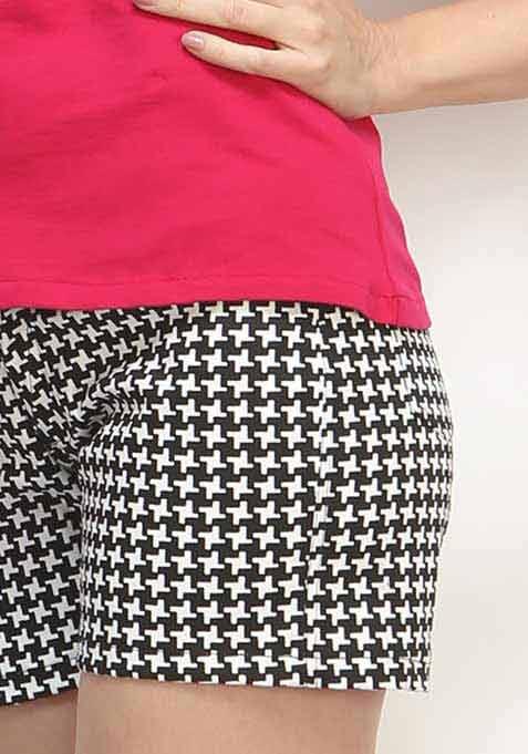 Sunday Houndstooth Shorts