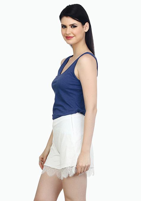 Sweet Girl Lace Shorts - White