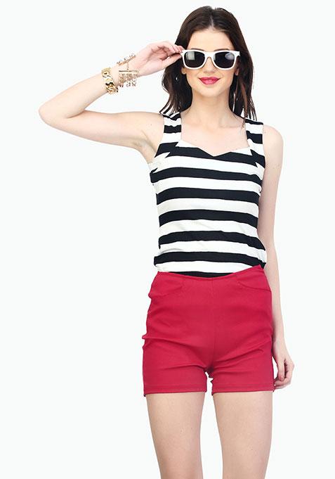 Rockabilly Shorts - Red