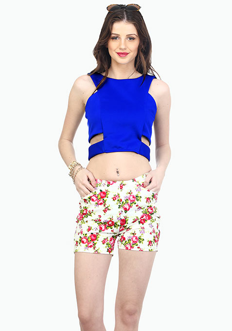 Rockabilly Shorts - Pink Floral