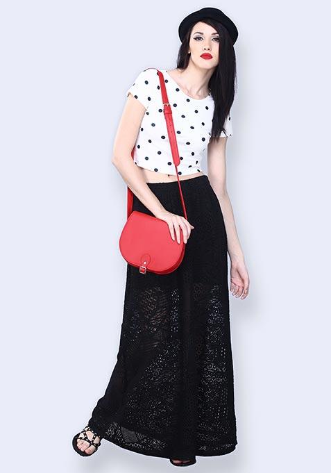 Lace Delirium Maxi Skirt - Black