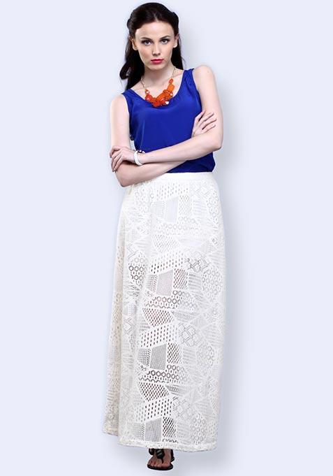 Lace Delirium Maxi Skirt - Ivory