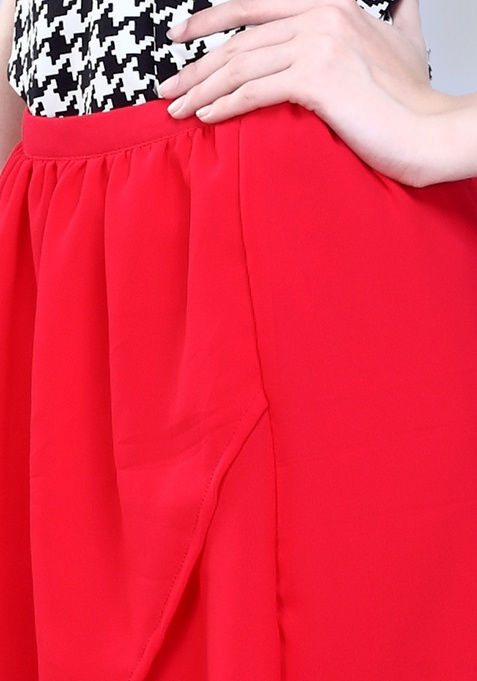 Undercover HiLo Skirt - Cerise
