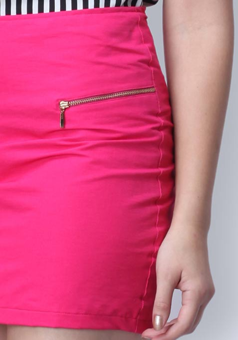 Think Pink Zipper Mini