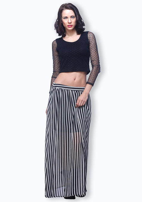 Summer Stripes Maxi Skirt
