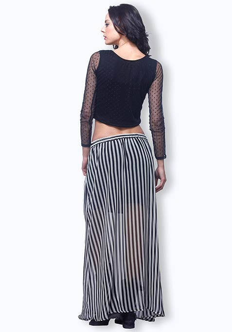 Summer Stripes Maxi Skirt