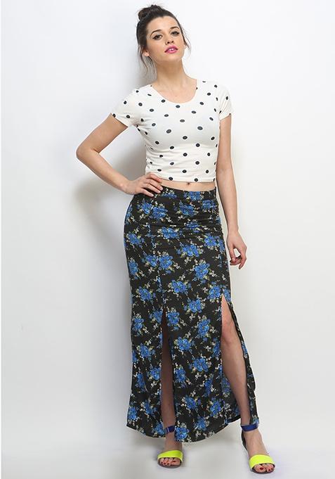 Dancing Flowers Maxi Skirt