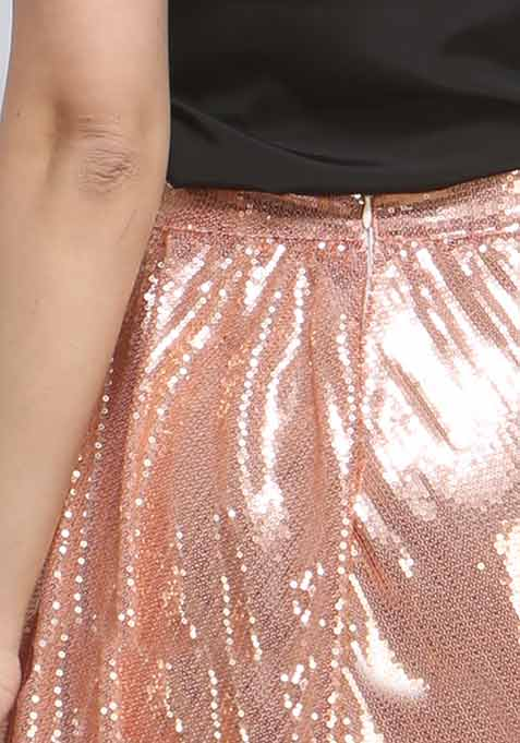 After Glow Sequin Skirt - Blush