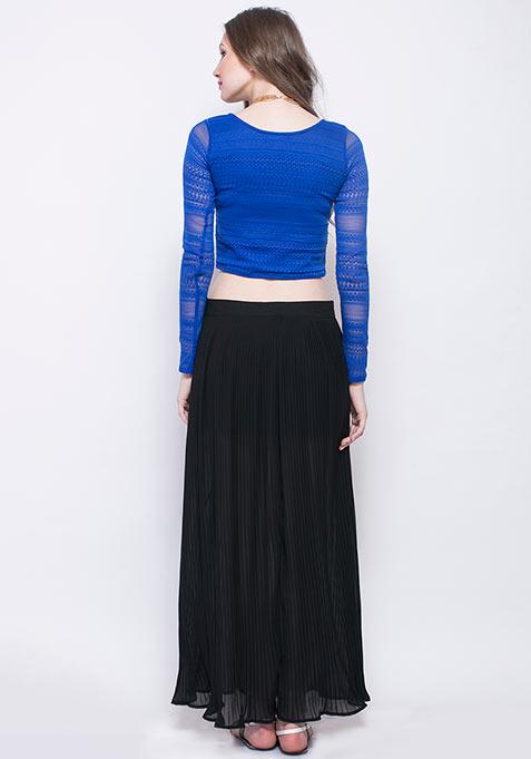 Pleats Please Maxi Skirt - Black