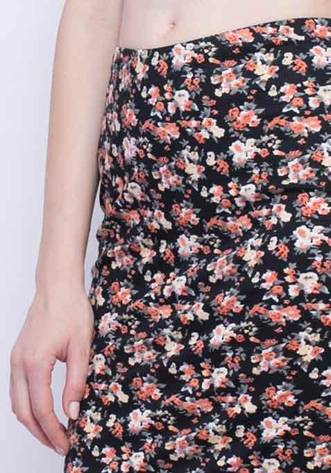 Fierce Floral Pencil Skirt