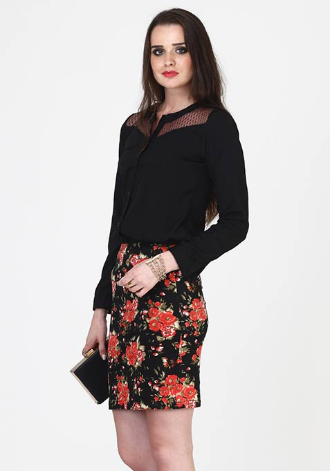 Floral Gush Pencil Skirt